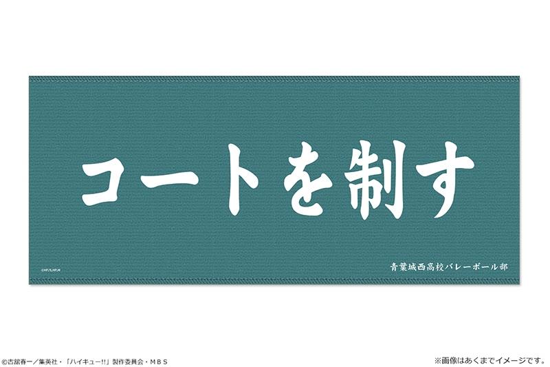 【굿즈-타월】 하이큐!! 횡단막 극세사 타월 02 아오바죠사이